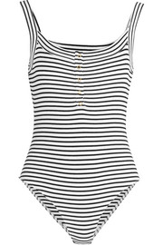 Bisham striped stretch-cotton bodysuit