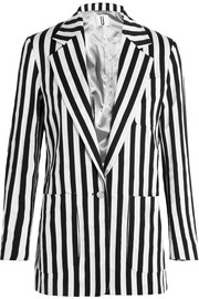 Harleyford striped cotton-blend blazer