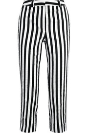 Harleyford striped cotton-blend slim-leg pants