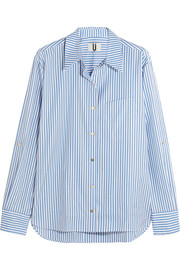 Dorney striped cotton-poplin shirt