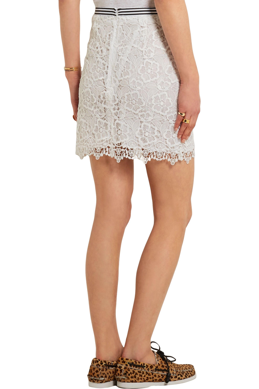 Topshop Unique Taplow guipure lace mini skirt
