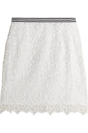 Taplow guipure lace mini skirt