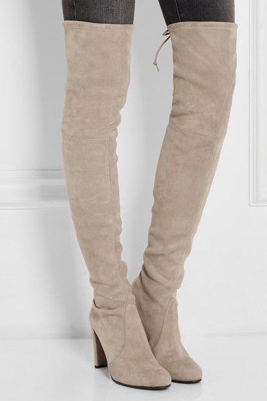 Stuart Weitzman Highland Stretch Suede Over The Knee