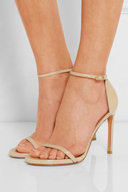 Nudist Song patent-leather sandals