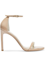 Stuart Weitzman Nudist Song patent-leather sandals