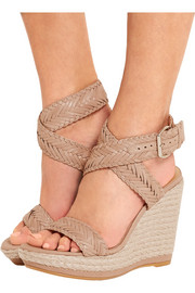Elixir braided leather espadrille wedge sandals