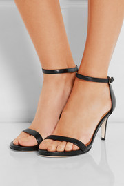 Nunaked leather sandals