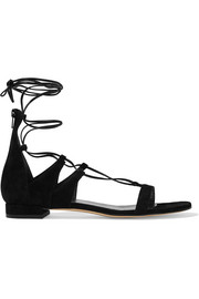 Tieup suede sandals