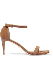 Nunaked suede sandals