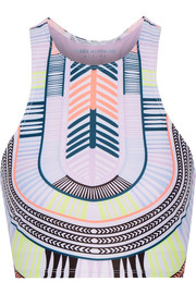 Mara Hoffman Voyager printed stretch-jersey sports bra