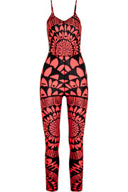 Peacefield printed stretch-jersey bodysuit