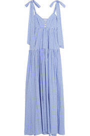 Elle gingham cotton maxi dress
