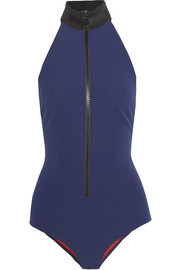 The Lisa Marie bonded halterneck swimsuit