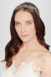 Celeste rhodium-plated Swarovski crystal headband