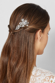 Cherry Blossom silver-tone crystal hair slide