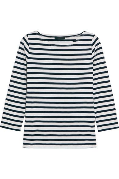 J.Crew - Striped Cotton-jersey Top - Navy