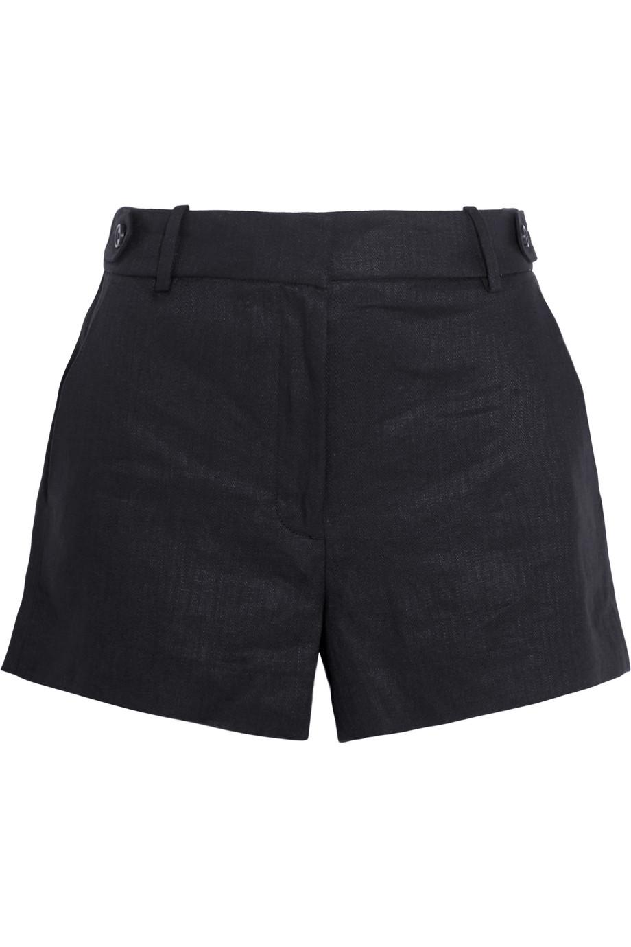 J.Crew Kyle Linen Shorts, Black, Women's, Size: 6