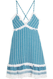 Cotton-gauze dress
