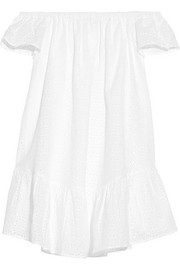 Pippa off-the-shoulder broderie anglaise cotton mini dress