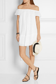 Elizabeth and James Pippa off-the-shoulder broderie anglaise cotton mini dress