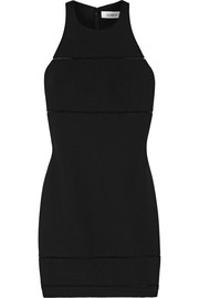 Elizabeth and James Prentice pointelle-trimmed stretch-ponte mini dress
