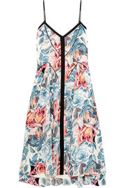 Linda printed silk dress