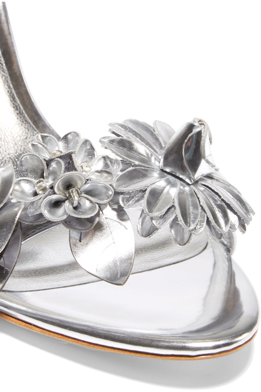 Sophia Webster Lilico appliquéd metallic leather sandals