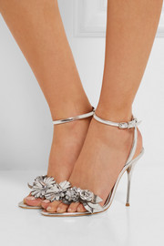 Sophia Webster Lilico appliquéd metallic leather sandals