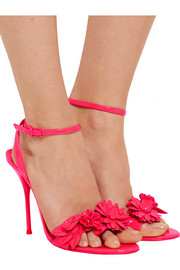 Sophia Webster Lilico appliquéd patent-leather sandals
