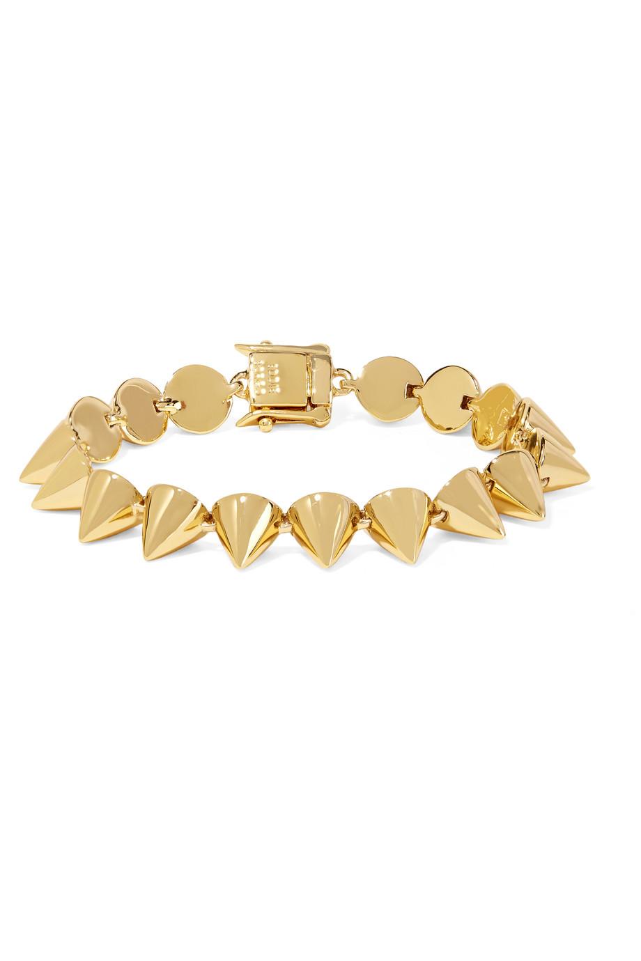 Eddie Borgo Gold-Plated Cone Bracelet, Women's