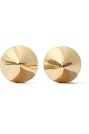 Gold-plated cone earrings