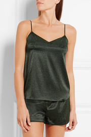 Stella McCartney Ellie Leaping leopard-print stretch-silk camisole