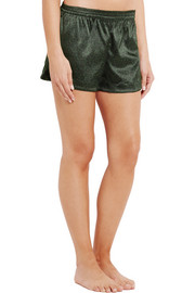 Stella McCartney Ellie Leaping leopard-print stretch-silk pajama shorts