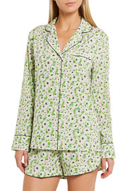 Stella McCartney Poppy Snoozing floral-print stretch-silk crepe de chine pajama set