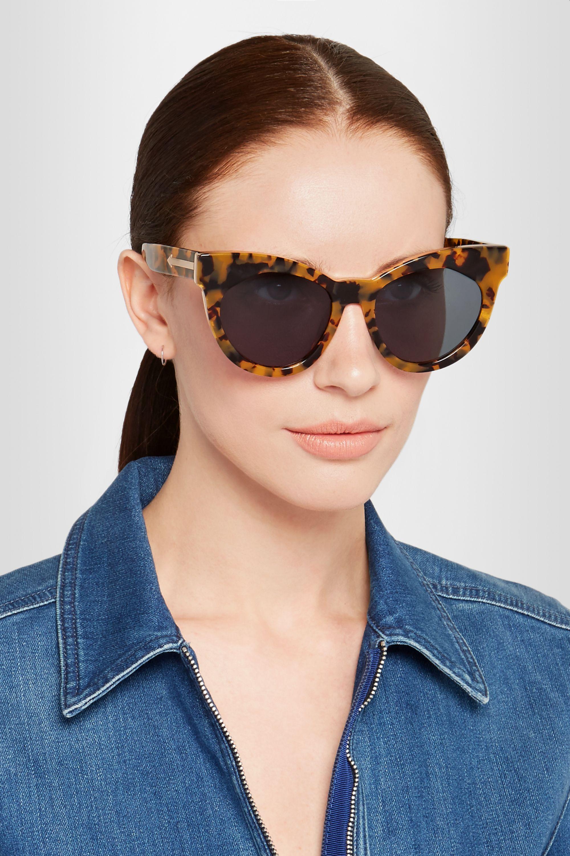 Karen Walker Starburst cat-eye acetate sunglasses