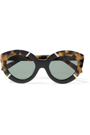 Flowerpatch cat-eye acetate sunglasses