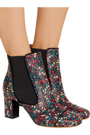 Micki floral-print leather ankle boots