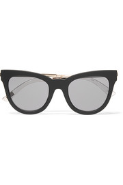 Le Debutante cat-eye rubber and gold-tone sunglasses