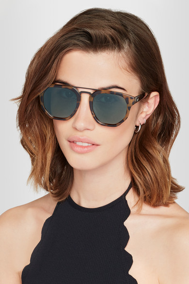 Le Specs. Thunderdome D-frame tortoiseshell acetate sunglasses