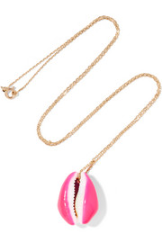 Aurélie Bidermann 18-karat gold porcelain shell necklace