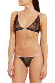 Ingenue stretch-Leavers lace soft-cup plunge bra