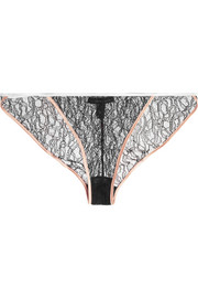 Ingenue stretch-Leavers lace briefs