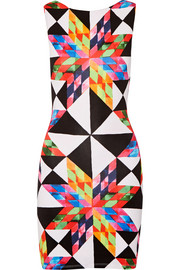 Mara Hoffman Cutout printed stretch-modal jersey mini dress