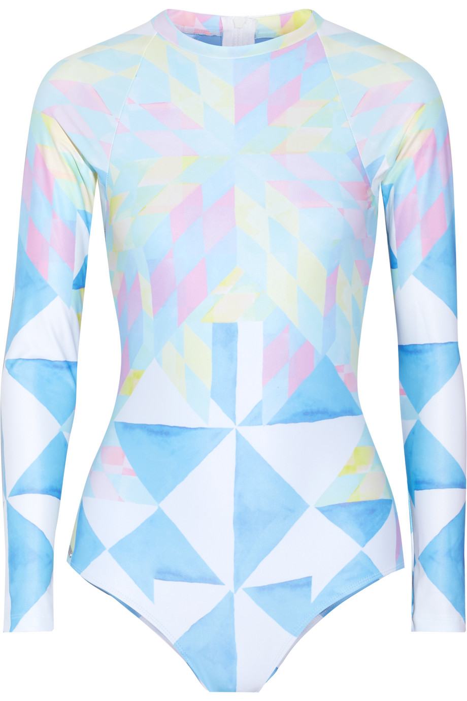 Mara Hoffman Printed Rash Guard, Sky Blue