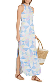 Mara Hoffman Printed stretch-modal jersey maxi dress