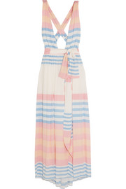 Mara Hoffman Striped crinkled-voile maxi dress
