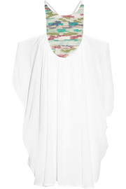 Mara Hoffman Off-the-shoulder embroidered gauze kaftan