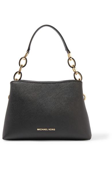 michael michael kors portia small textured leather shoulder bag net a porter
