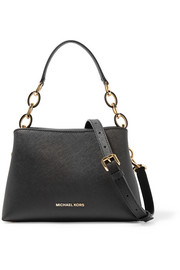Portia small textured-leather shoulder bag