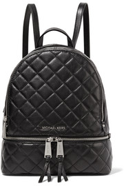 Rhea medium quilted leather backpack
